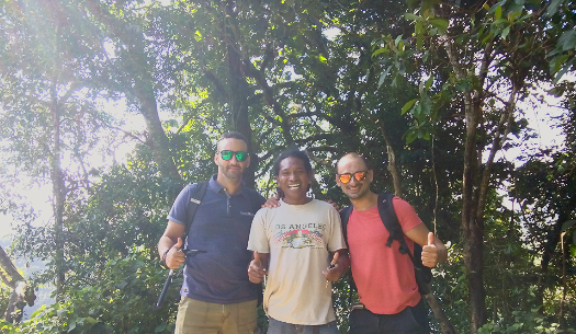 Mr. Melvin Gatt and Mr. Clyde Micallef from Malta in Come to Flores Overland Trip,  5D/4N, 2017