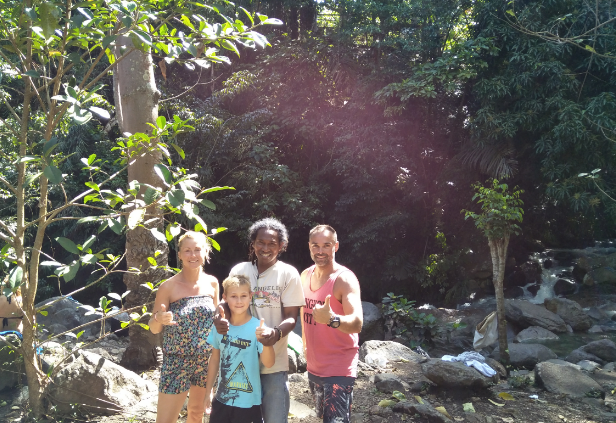 Mr. Chris Mdm's family from France in Come to Flores Overland Trip,  7D/6N, 2017.