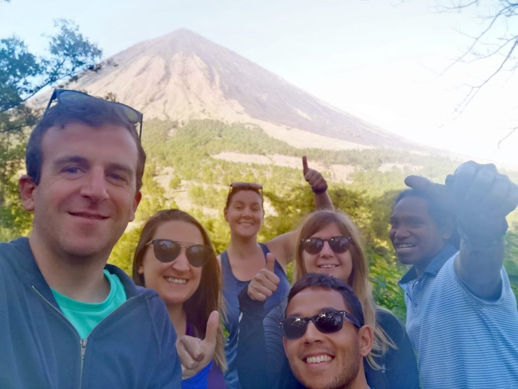 Mr. Maxime Chiroli, Miss. Clémence Arnould, Mr. Tim Crépin, Miss. Delphine Rgt, Miss. Pauline Hatry from France in  Come to Flores Overland Trip,  5D/4N, 2019.